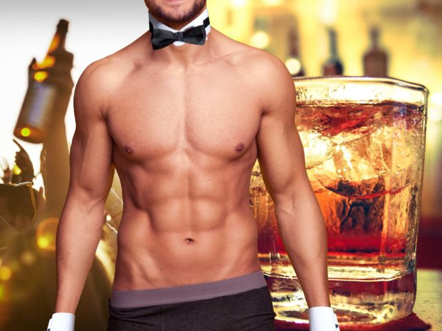 Cheeky Butler with Drinks