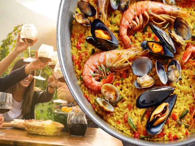 Paella Meal with Drinks