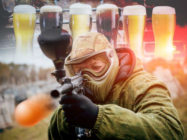Paintball with Unlimited Balls & Beer