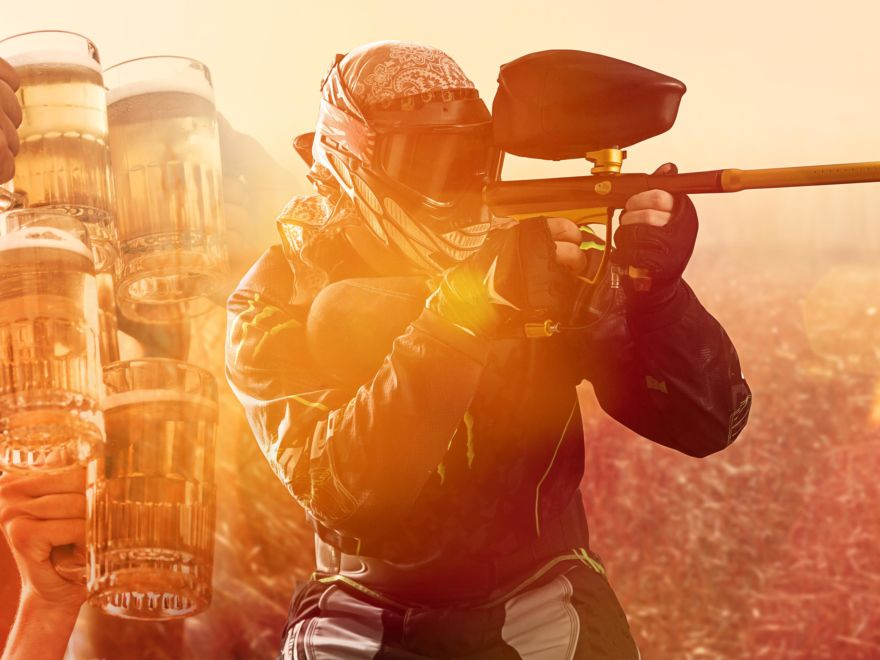 Paintball with Unlimited Beer