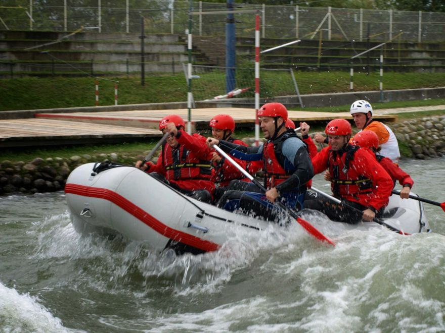 White Water Rafting & Hot Pool Party Activity