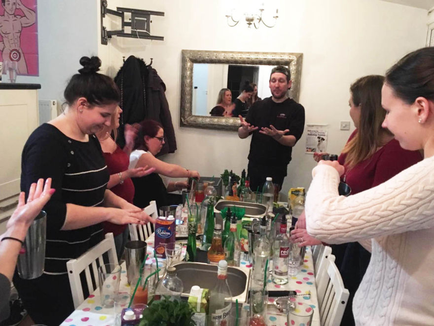 Hen Party Mobile Cocktail Making Activity