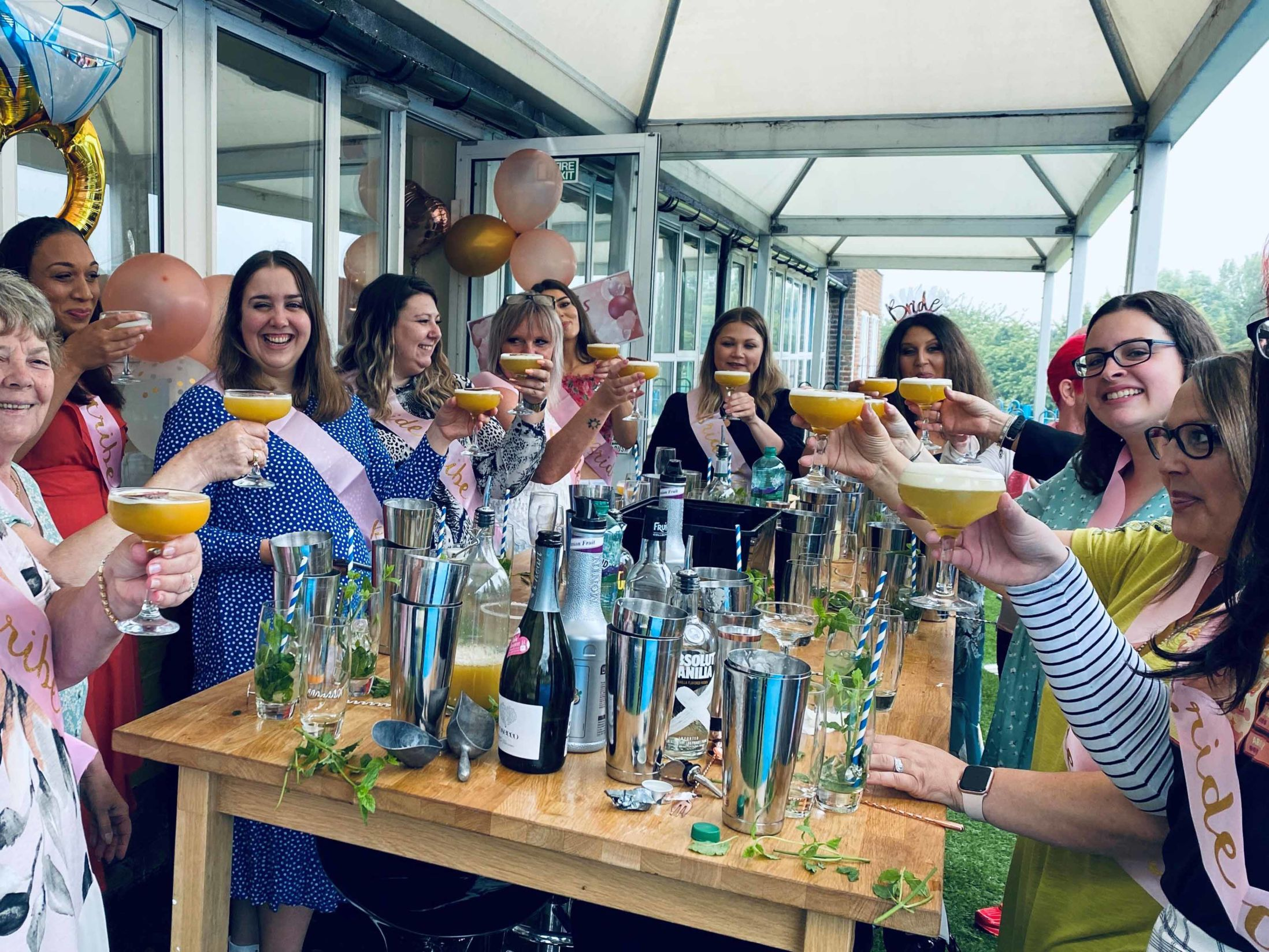 Last Minute Hen Party Ideas - Mobile Cocktail Making