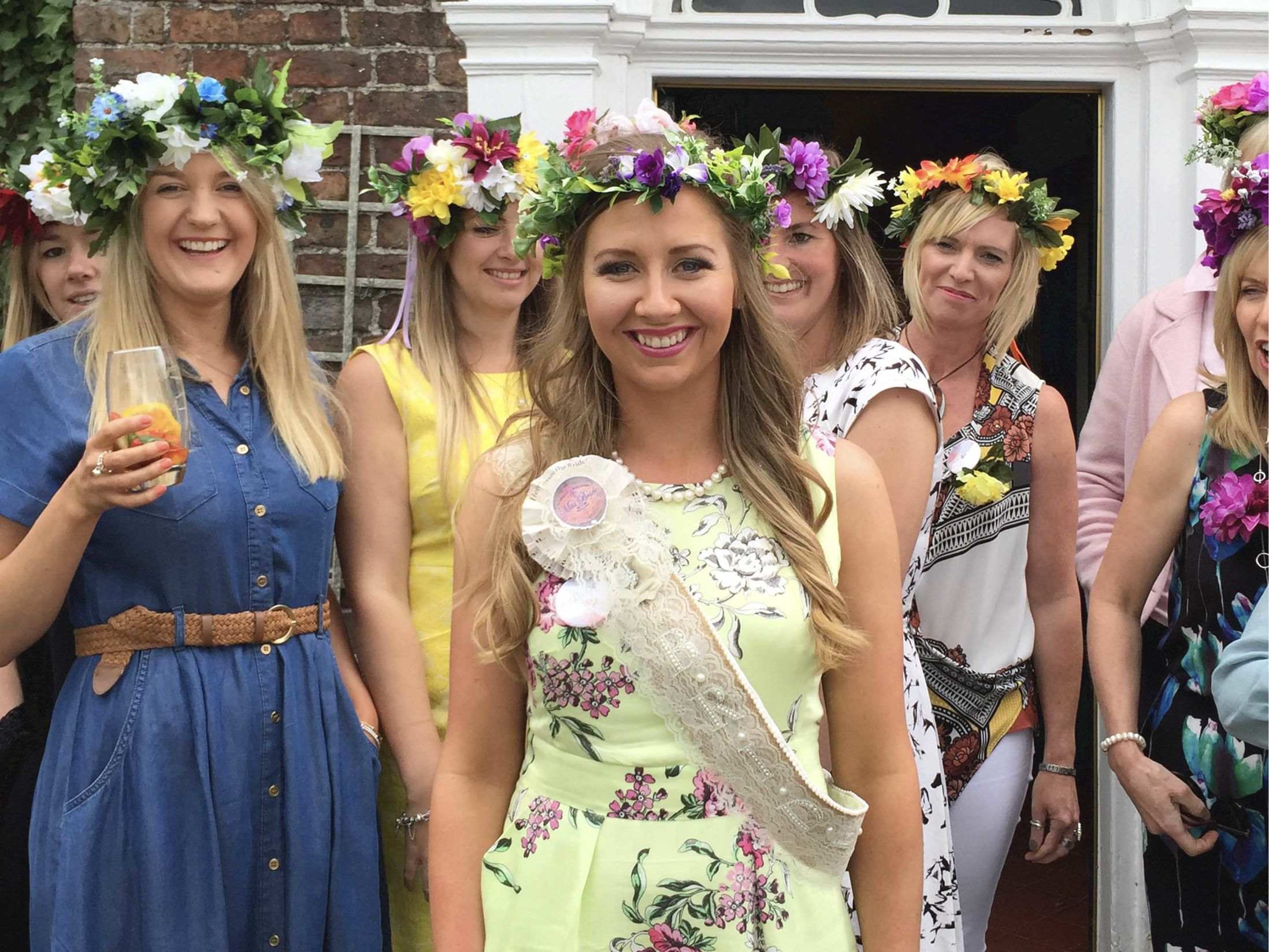 Hen Party Ideas for Mixed Ages - Mobile Flower Crown Making