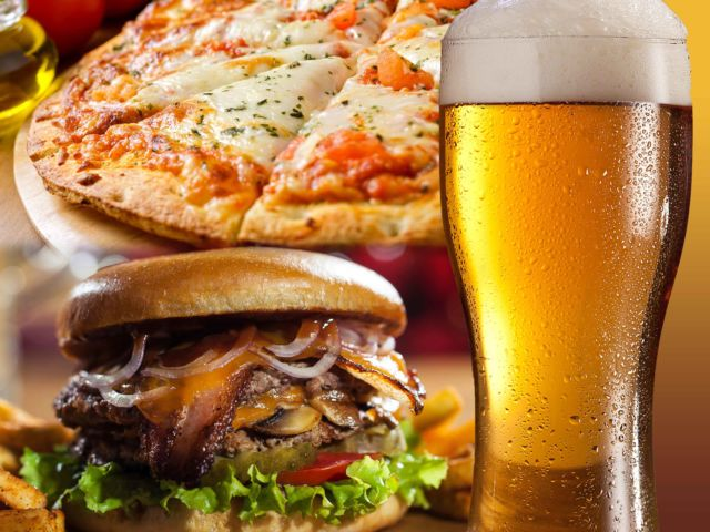 Pizza or Burger & Drink
