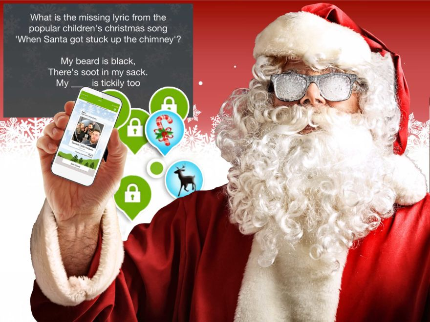 Smartphone Christmas Treasure Hunt
