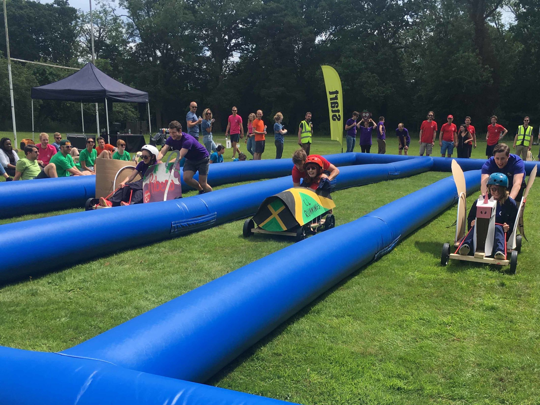 Outdoor Team Building Events in Wigan