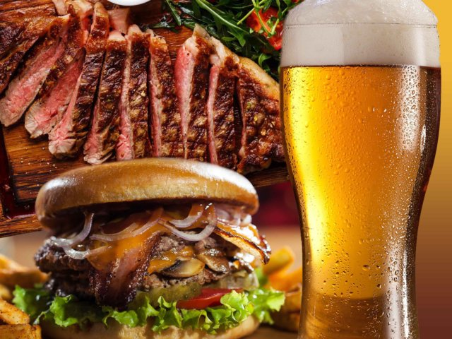 Steak or Burger & Beer