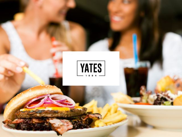Yates - 2 Course Meal