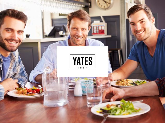 Yates - 3 Course Meal
