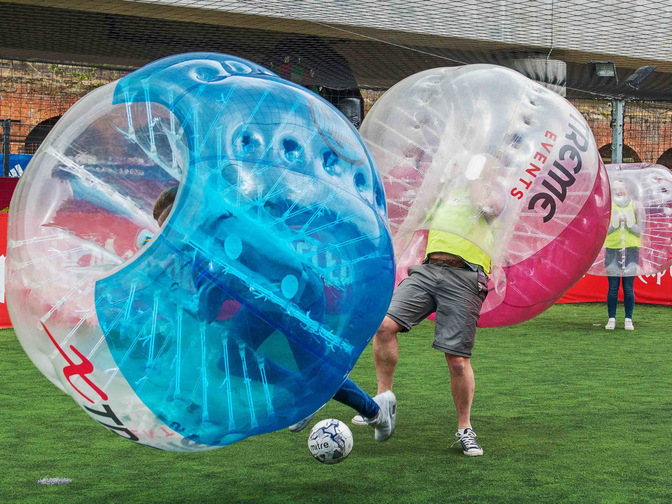 Zorb Bubble Games for Groups