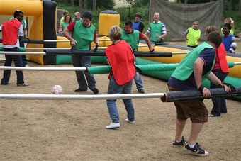 GIANT Human Table Football Stag Party