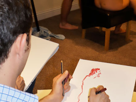 Nude Female Life Drawing & Zorb Football Stag Do