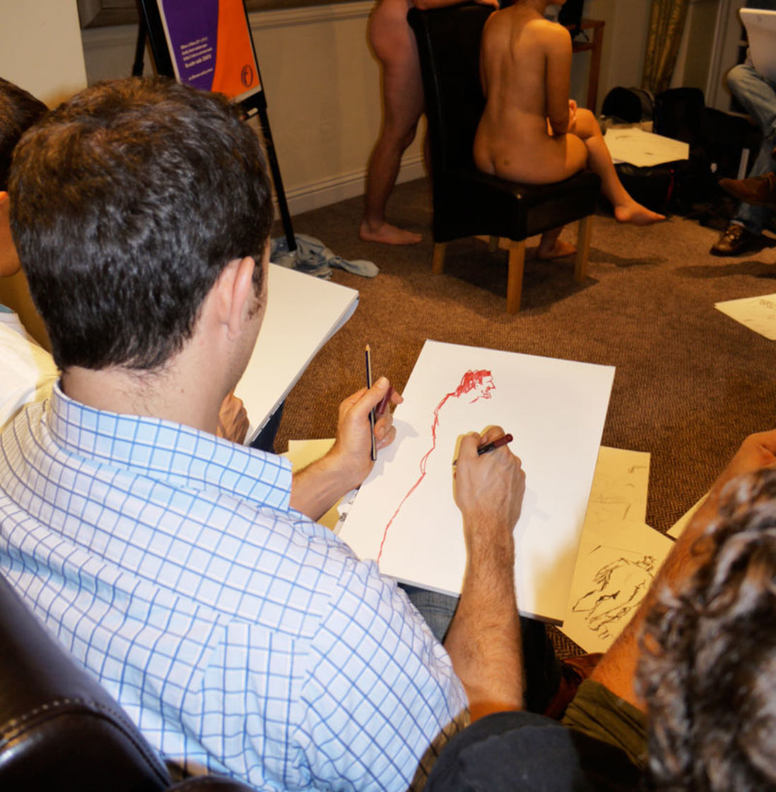 Life Drawing Stag Party Cardiff