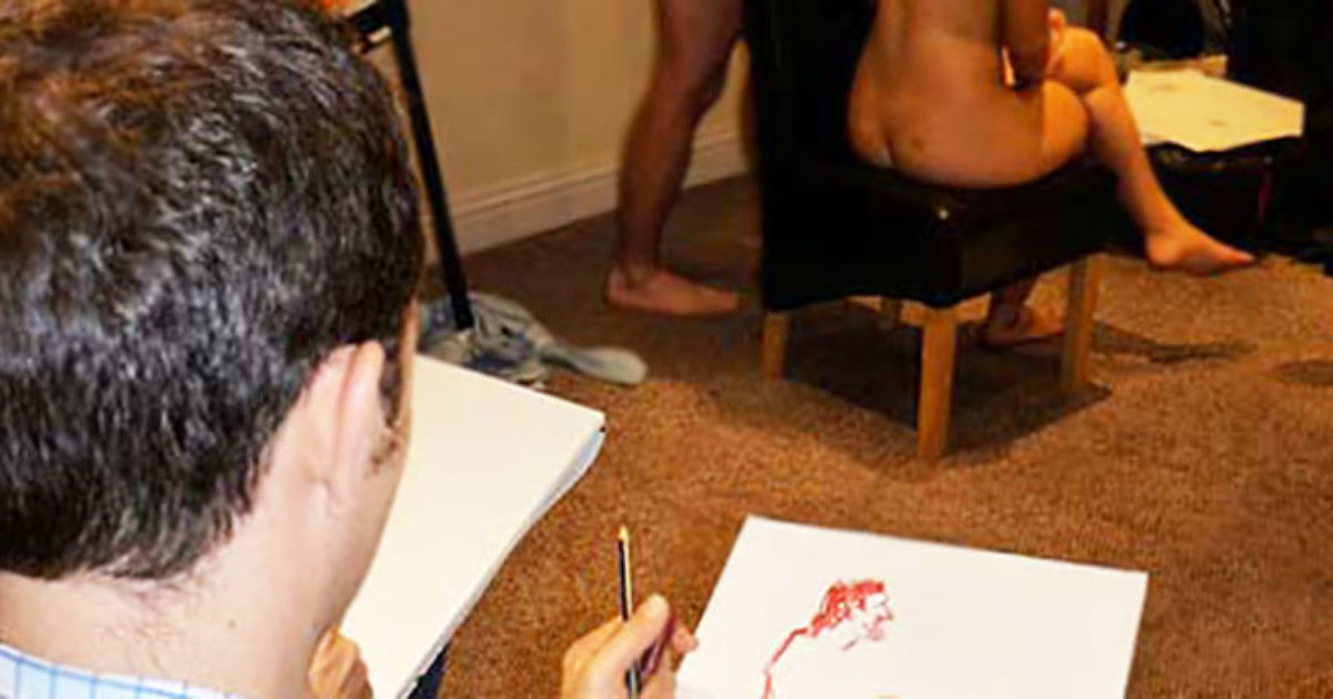 Nude Life Drawing Stag Weekend Bath