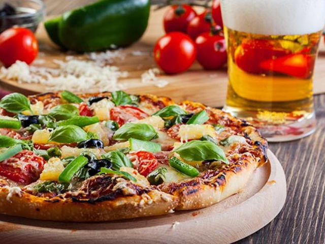 Pizza or Burger & Beer