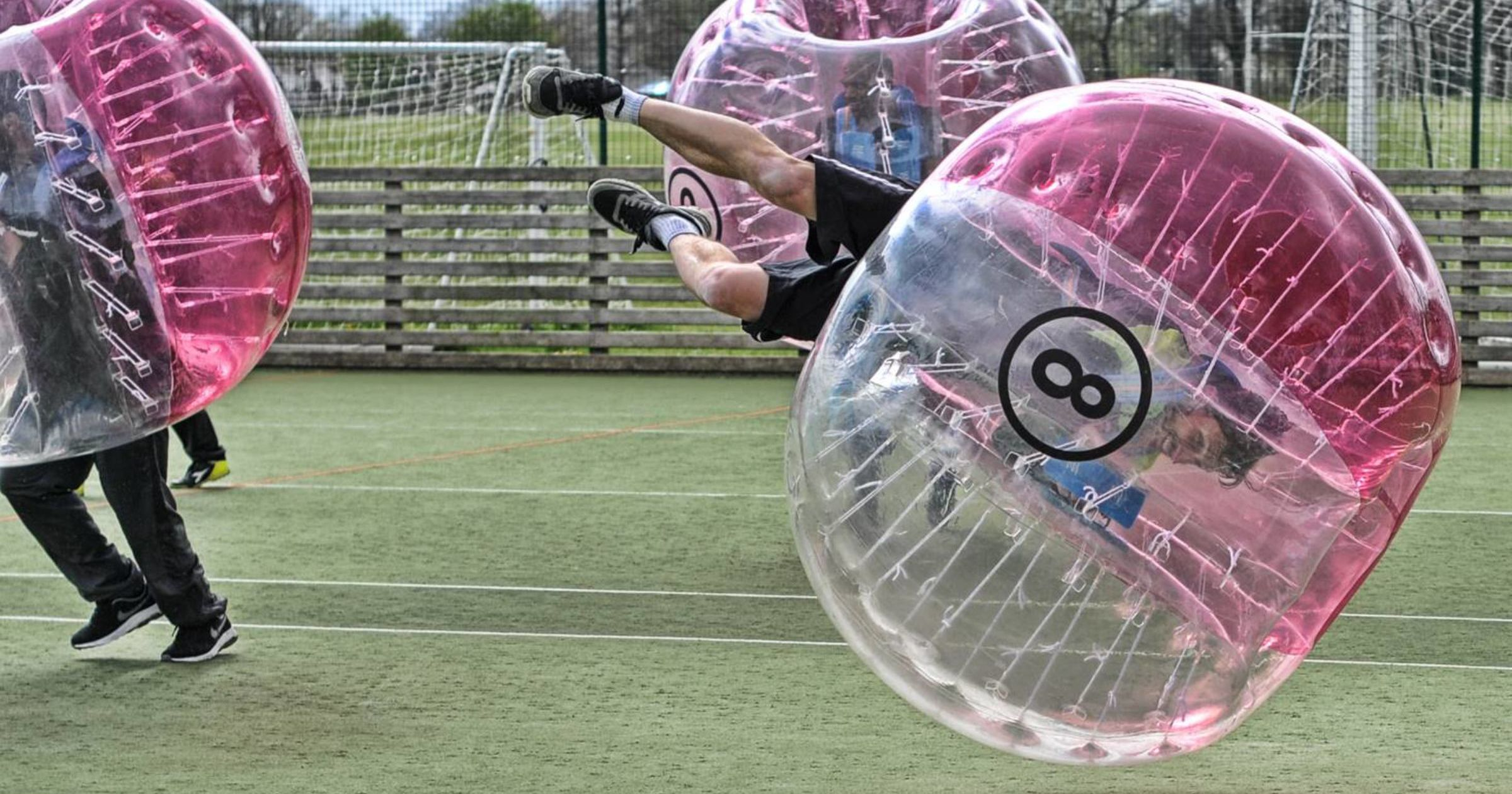 Glasgow Zorb Football Stag Do Bubble Football