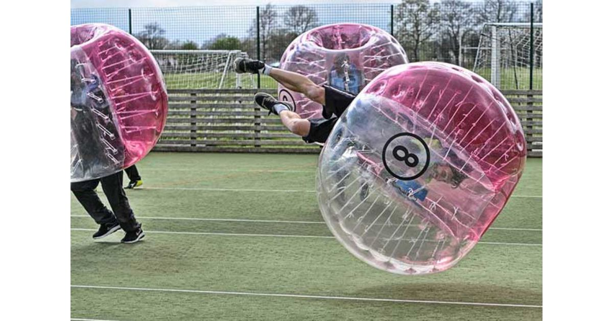 Swansea Zorb Football Stag Do Bubble Football