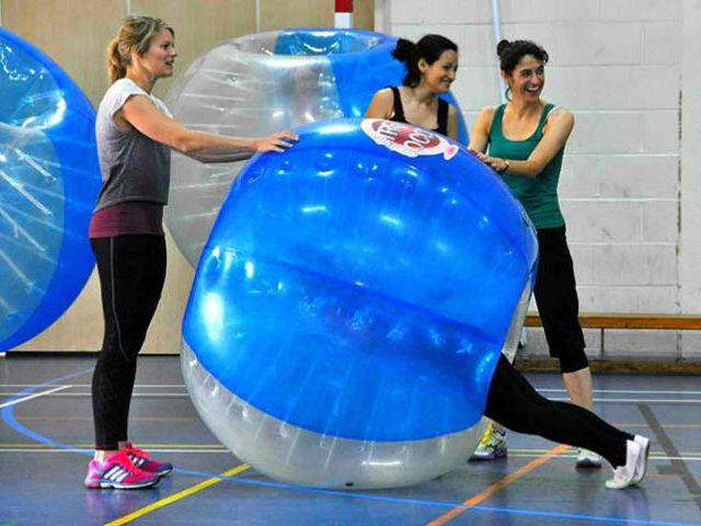 Zorb Bubble Games Team Building Lincoln